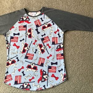 Lularoe freedom shirt Sz XL 4th of July theme